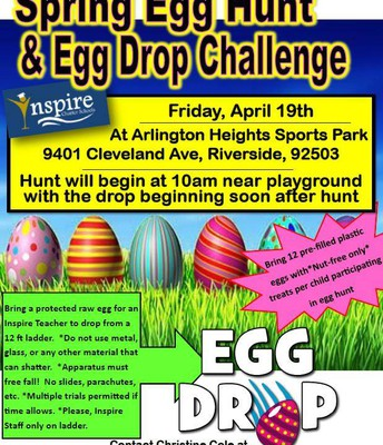 Spring Egg Hunt & Egg Drop Challenge in Riverside!