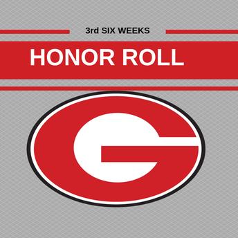 3rd Six Weeks Honor Roll