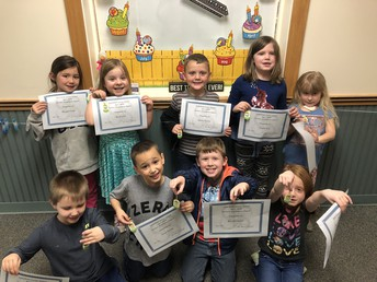 April 2019 Perfect Attendance - Kindergarten