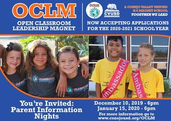Open Classroom Leadership Magnet Information Night