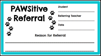 PAWSitive Office Referrals - for students & staff