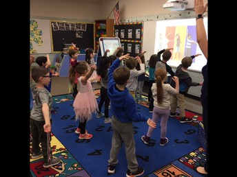 Students Move to Hello Song!