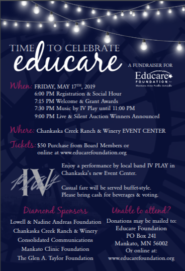 Educare foundation spring event flier