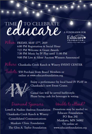 Educare foundation spring event flier