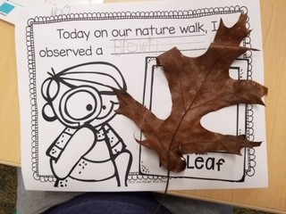 Writing About Our Leaf Hunt