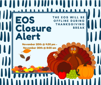 EOS System Closure Alert