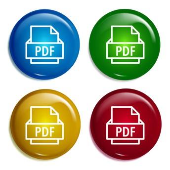 PDF icons on a bubble