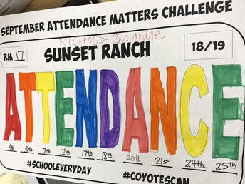 Congrats to Mrs. Nichols' class! They won the September Attendance Challenge!