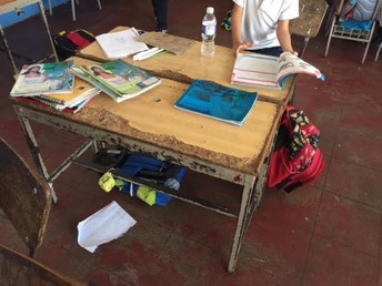 The school's current desks