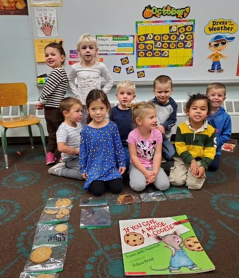 """We read """"If You Give a Mouse a Cookie"""" and found out that our favorite cookie is chocolate chip!"""