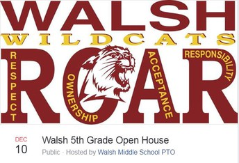 walsh fifth grade open house