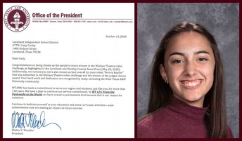 LHS Lizzie Corley Recognized