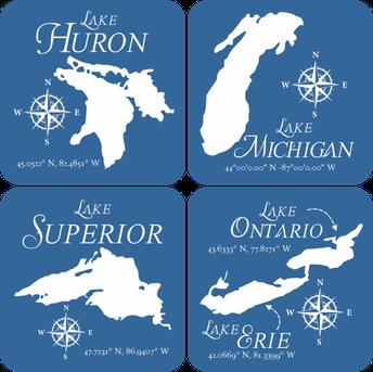 Great Lakes Felt Coasters