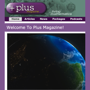 Plus Online Magazine screenshot