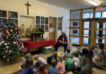 Nativity Story with Mrs. Morgan and Ms. Valvo's class