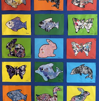 Rm 4 - Recycled Art - Animals