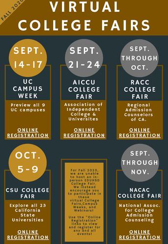 Virtual College Fairs (Campus Weeks & Webinars)
