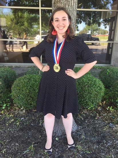 Lauren Fleniken is our State Champion for Theatrical Costume Design!!!!!