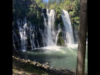 Burney Falls in May!  Lots of water!