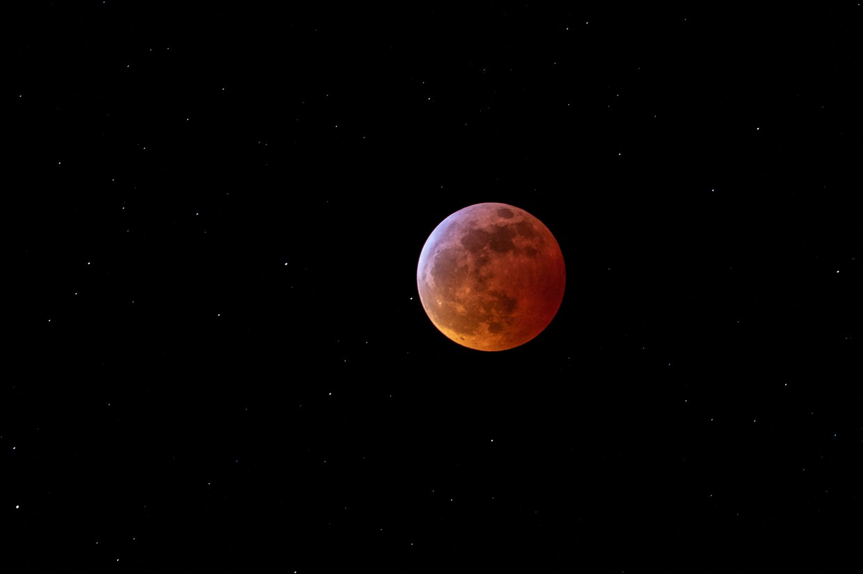 Abby Keenan captured this incredible shot of the moon during the super blood moon lunar eclipse this past Sunday night.