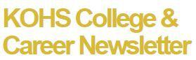 Klein Oak College & Career Newsletter