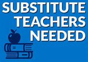 Substitutes needed at all levels!