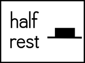 half rest = silencio de blanca
