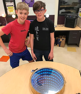 Students in STEAM Develop an Optical Illusion