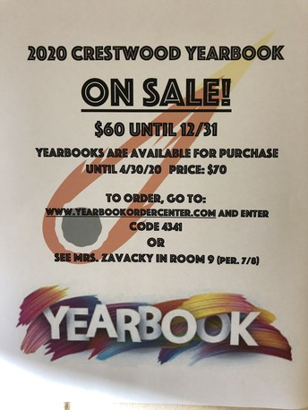 2019 - 2020 HS Yearbooks are on sale now!