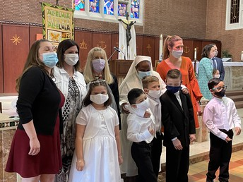 Congratulations to our students that received their first communion
