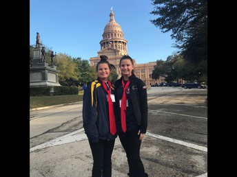 Alyssa and Carley at the Texas Capitol