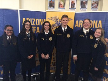 AgriScience Fair participants. From left to right - Ella Jackson, Ariah Zeigler, Chaille Driggers, Blake Stringfellow, Sophia Kolb and Delanie Christensen. Not pictured - Izzy Taft.