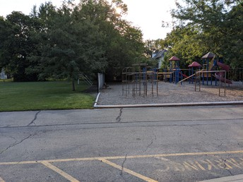 Playground on the west side of the building
