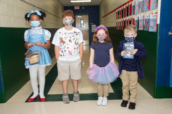 Second Grade Students as Book Characters