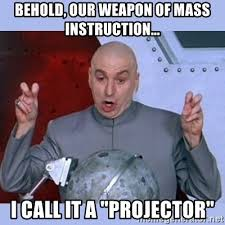 Please remember to turn off projectors!