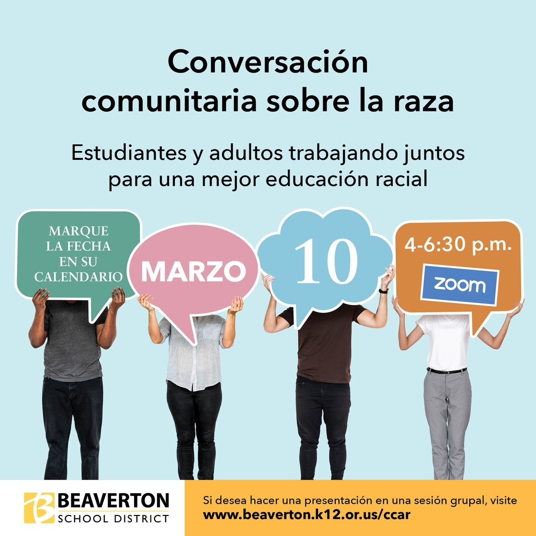 Conversations around race save the date graphic