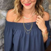 Drape Collar Necklace - $40