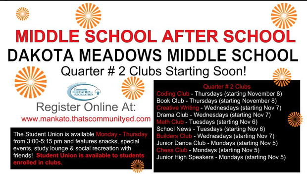 After school opportunities at DMMS