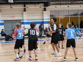Boys team in action, they had fun, winning their first game!!