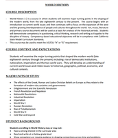 Course Profiles