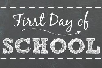 Reminder: First Days of School Info