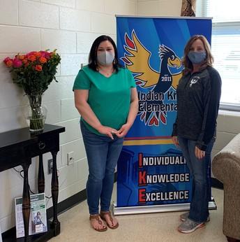 Nikki Chambley and Principal Kim Cerasoli