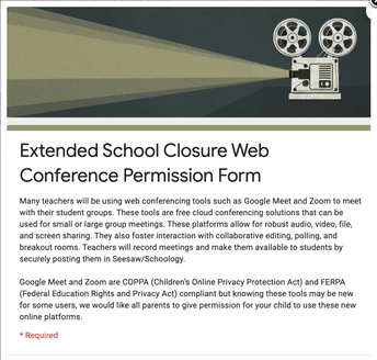 IMPORTANT: WEB CONFERENCE PERMISSION FORM--PLEASE COMPLETE ASAP!
