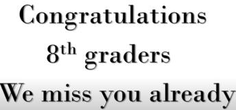 Virtual 8th Grade Promotion Ceremony