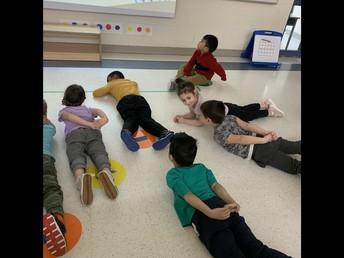 Classroom yoga in Pathways!
