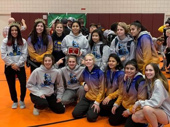 Girls wrestlers state runners up