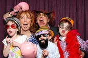 Family Photo Booth at Turkey Dinner