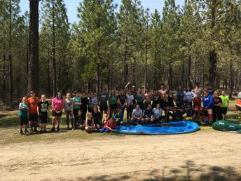CES 6th graders - group picture after white water rafting adventure last week!