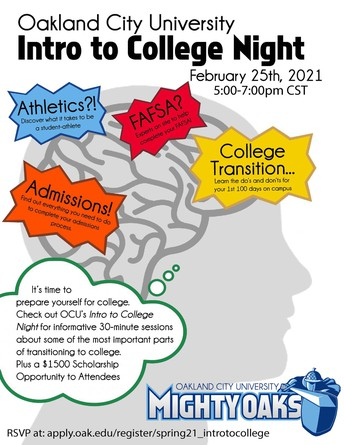 Oakland City University - Intro to College Night