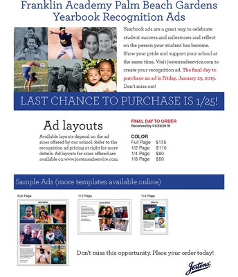 Yearbook Ads Due 1/25